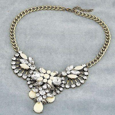 Hochzeit - New Shourouk Fan Gem Statement Necklace! Summer Look! Fashion Style