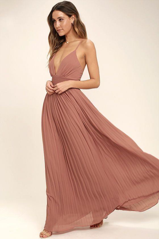 زفاف - Depths Of My Love Rusty Rose Maxi Dress
