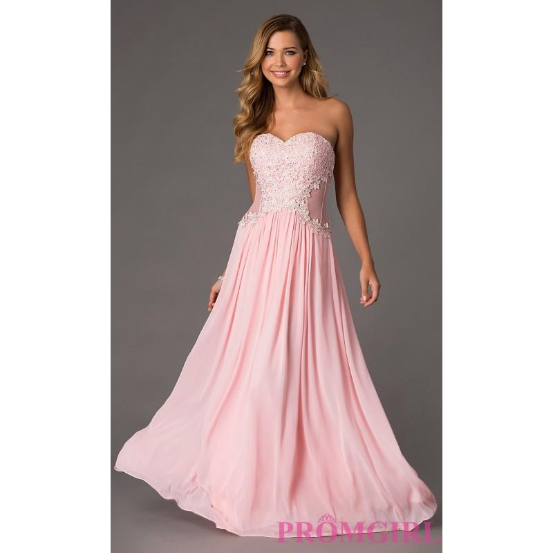 Свадьба - Strapless Sweetheart Floor Length Dress - Brand Prom Dresses