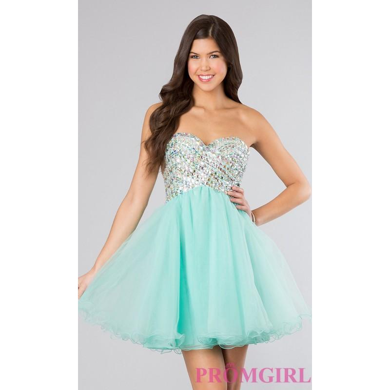 Свадьба - Strapless Short Beaded Prom Dress - Brand Prom Dresses