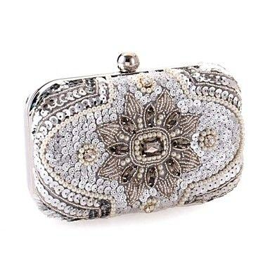 Hochzeit - L.WEST® Women's Event/Party / Wedding / Evening Bag The Sequins Beaded Diamonds Delicate Handbag