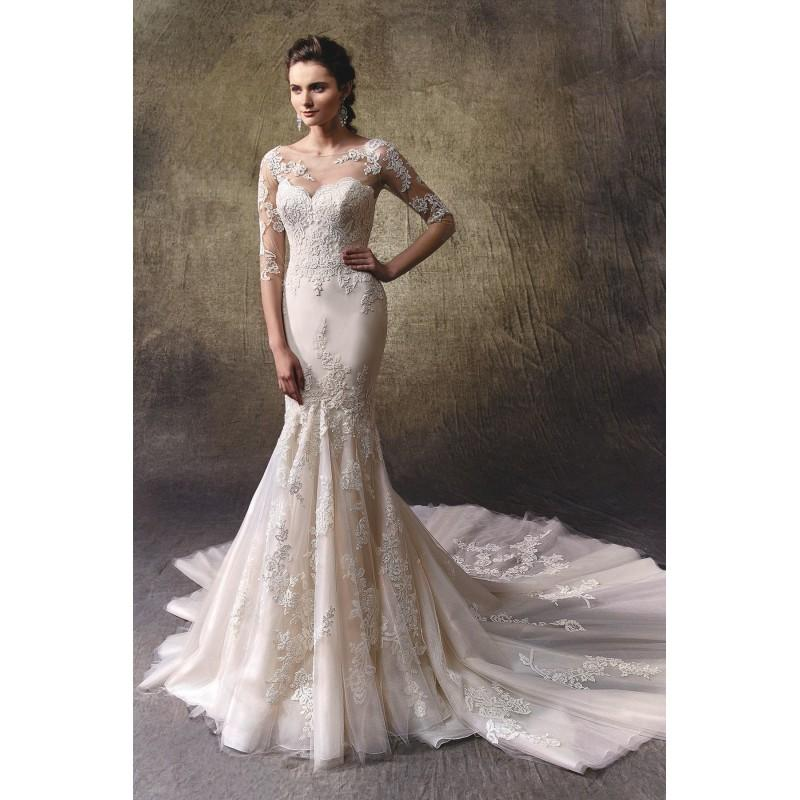 Lindy by enzoani lace tulle cover up floor high illusion for Cover up wedding dress