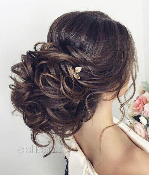 Voluminous Low Updo Wedding Hairstyle