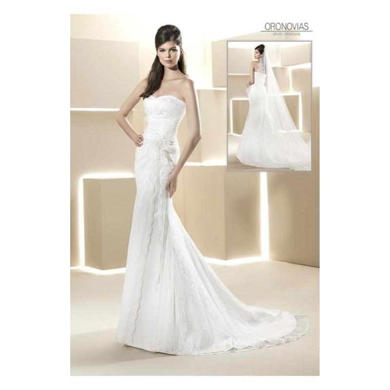 Hochzeit - Vestido de novia de Oronovias Modelo 13107 - Tienda nupcial con estilo del cordón