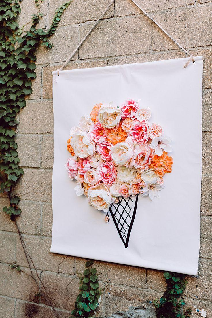 Wedding - 3D Illustrated Floral Backdrop DIY