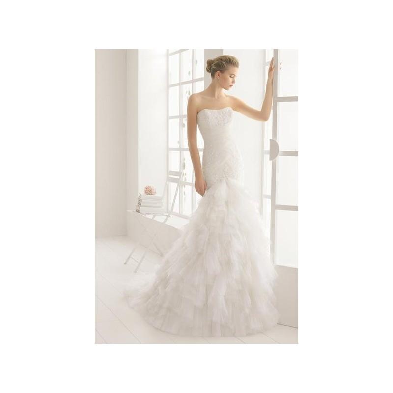 Boda - Vestido de novia de Aire Barcelona Modelo Medea - 2016 Sirena Palabra de honor Vestido - Tienda nupcial con estilo del cordón