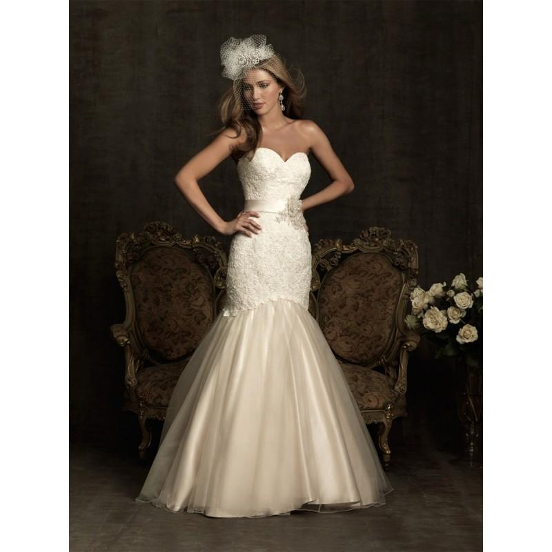 Wedding - Allure Bridals 8920 White/Silver,Ivory/Silver,Pearl/Silver Dress - The Unique Prom Store