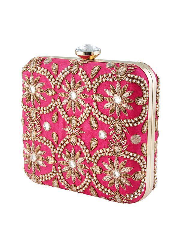 Hochzeit - Festive Pink Zink Clutch