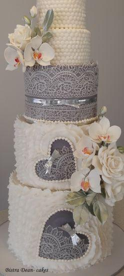 Boda - Lace And Orchid Cake