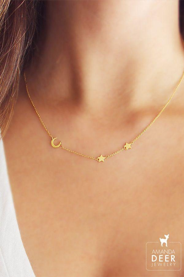 Boda - Moon And Star Necklace