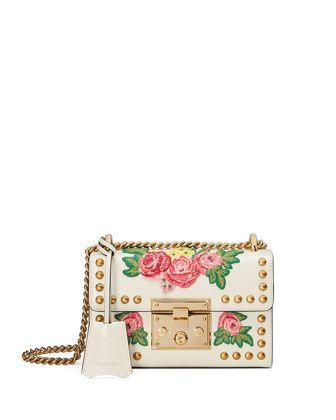 Boda - Padlock Mini Floral Patches Shoulder Bag