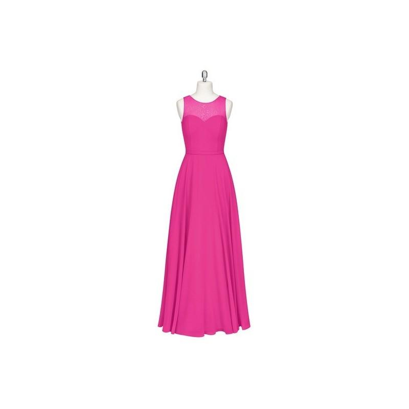 زفاف - Fuchsia Azazie Hayden - Floor Length Illusion Sweetheart Chiffon And Lace - Charming Bridesmaids Store