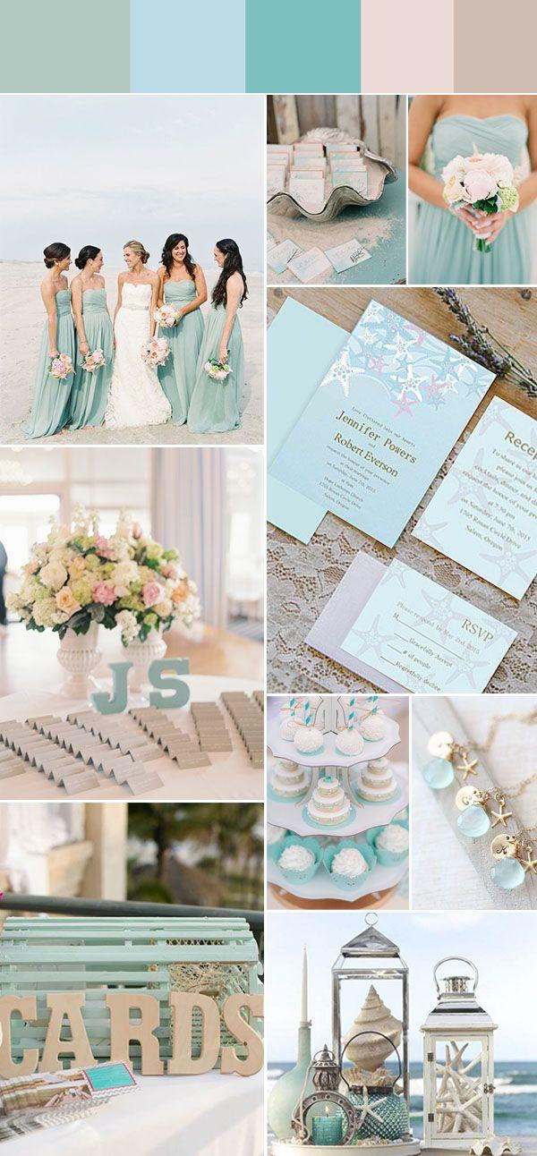 Beach Wedding Colors.Gorgeous Summer Beach Wedding Color Ideas With Invitations 2767336