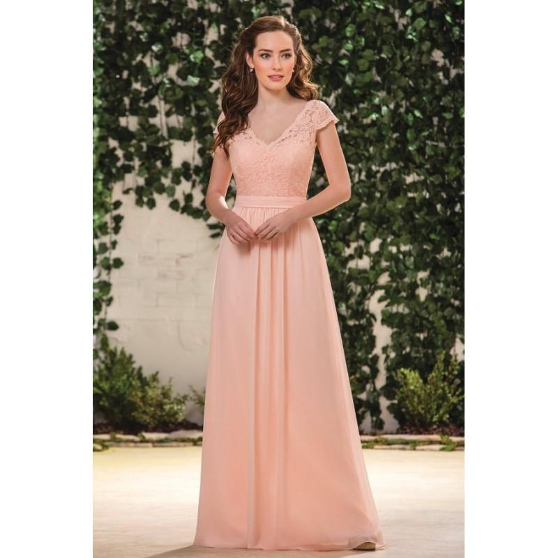 fcb15ba88a7 Style B183059 by Jasmine B2 - Chiffon Lace Detachable Straps Cover-up Floor Jasmine  Belsoie - Bridesmaid Dress Online Shop