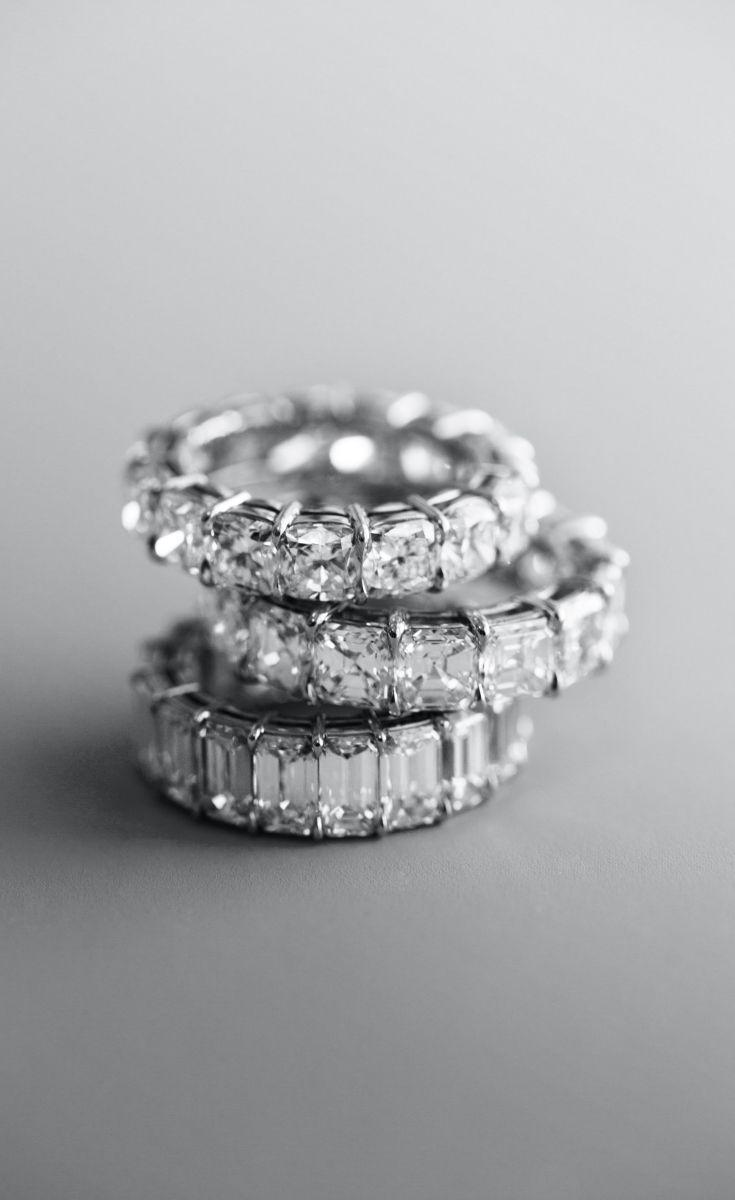 Boda - Cushion Cut Diamond Eternity Ring In Platinum (7 Ct. Tw