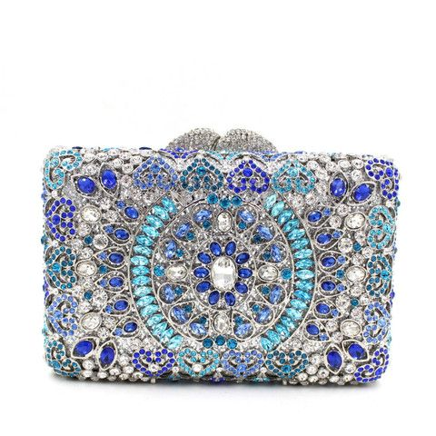Boda - Luxury India Crystal Sparkle Bling Rhienstone Weddign Clutch