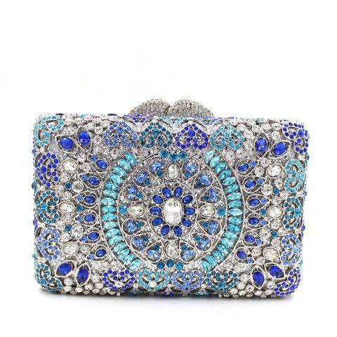 Boda - Luxury India Crystal Sparkle Bling Rhienstone Weddign Clutch