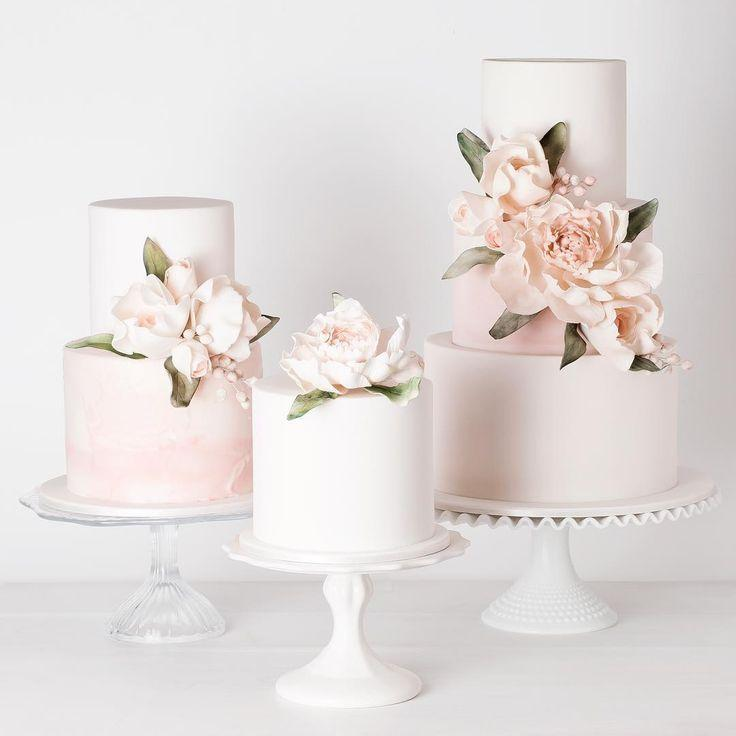 Wedding - Simple Floral Cakes