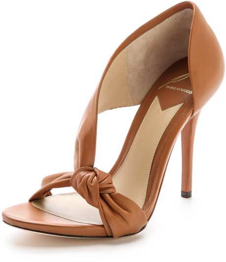 Boda - Women's Brown Chryssa Knotted Sandals Cafe