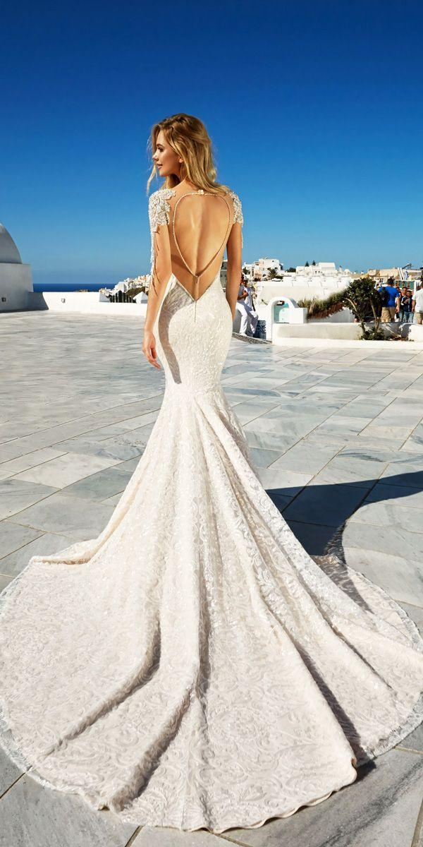 Wedding - 21 Fascinating Open Back Wedding Dresses