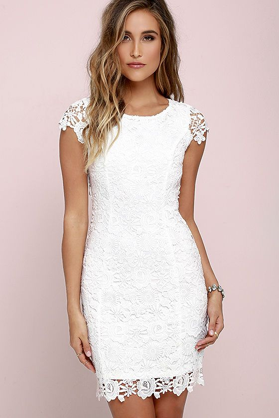hidden talent backless ivory lace dress