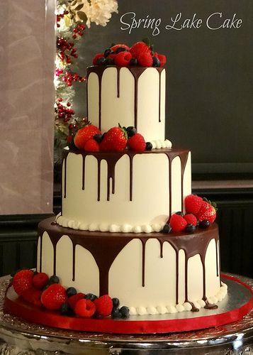 Wedding - Ganache And Fresh Fruit