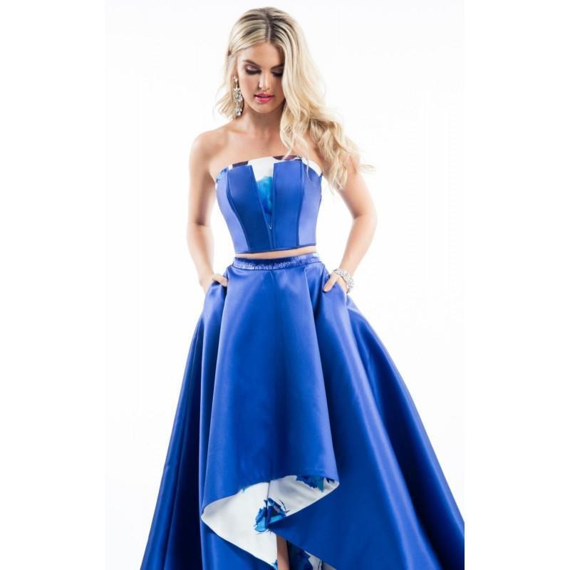 Boda - Royal Two-Piece Hi-Lo Gown by Rachel Allan - Color Your Classy Wardrobe