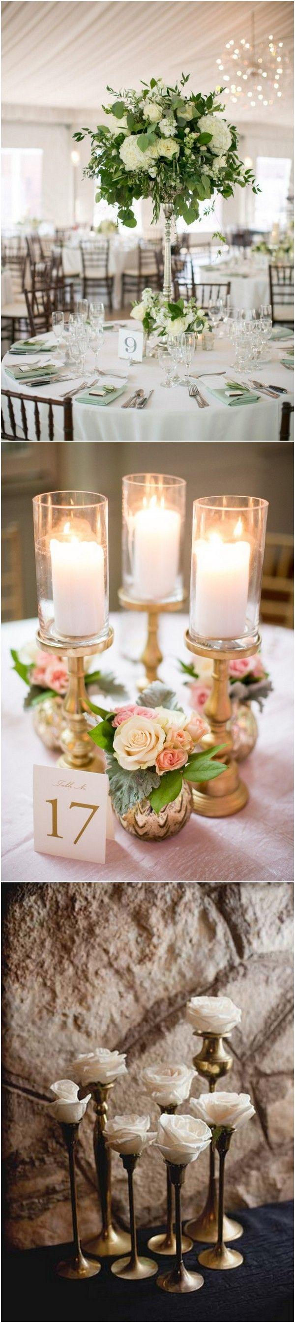 Boda - Trending-18 Outstanding Wedding Centerpieces With Candlesticks