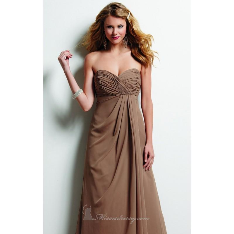 Wedding - Shirred Side Drape Dress By Jordan 367 - Bonny Evening Dresses Online
