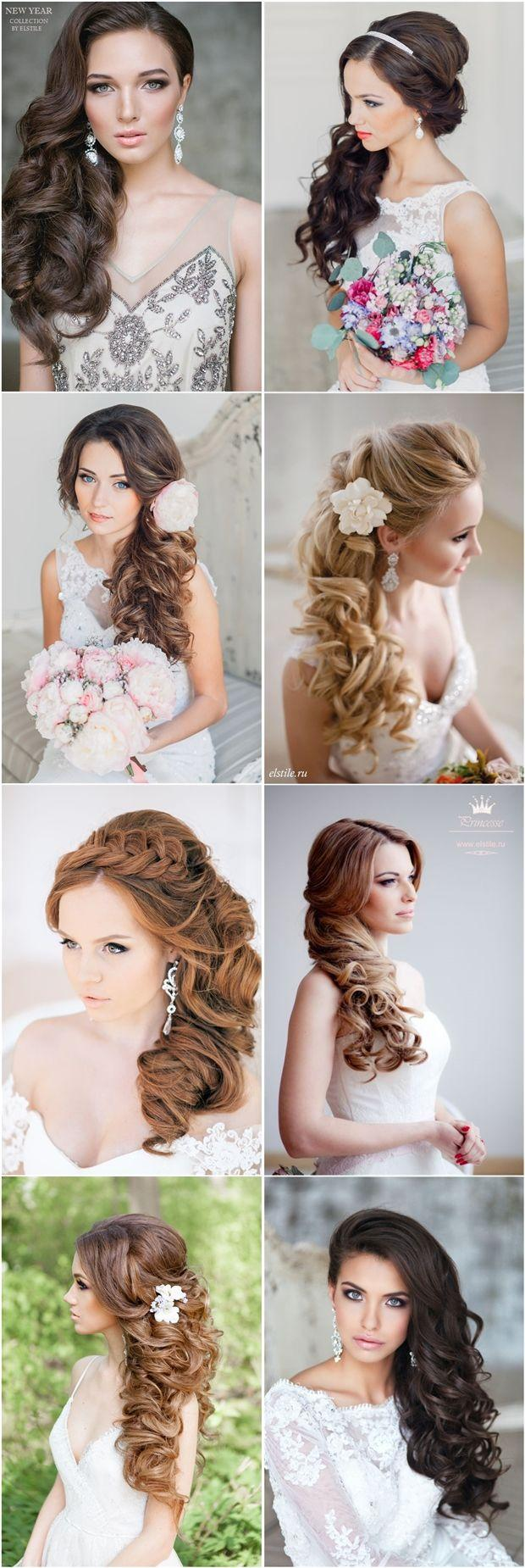 Wedding - Half-up Half-down Long Bridal Hairstyles For Wedding Pictures