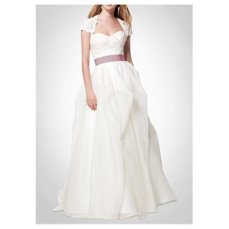 Boda - Elegant Exquisite Organza Satin & Satin A-line Sweetheart Wedding Dress - overpinks.com