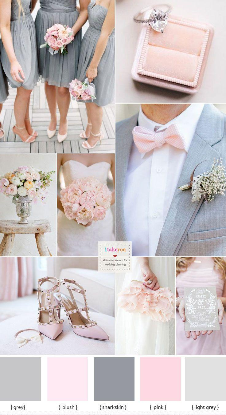 Wedding - Grey And Pink Wedding Colour Schemes