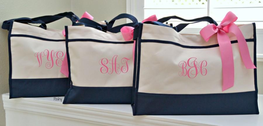 Mariage - Personalized Bridesmaids' Tote Bridesmaid Gift