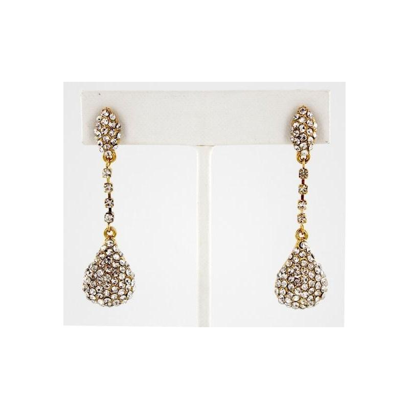 زفاف - Helens Heart Earrings JE-E08809-G-Clear Helen's Heart Earrings - Rich Your Wedding Day