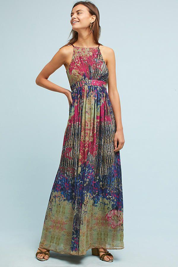 Свадьба - Abstracted Floral Maxi Dress