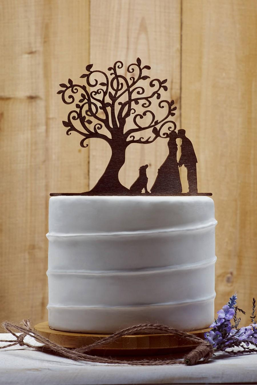 Hochzeit - Customized Wedding Cake Topper With Dog, Personalized Cake Topper for Wedding, Custom Personalized Wedding Cake Topper, Couple Cake Topper10