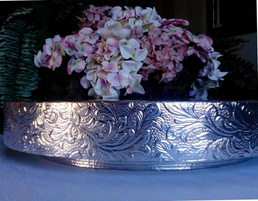 "Mariage - Wedding Cake Stand ""Floral Leaf"", 14"", 16"", 18"", 20"", and 22"" Cake Stand"