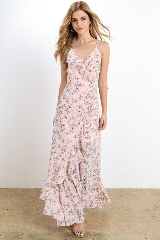 2039d047a4b5e Dress - Blush Floral Maxi Dress #2769118 - Weddbook