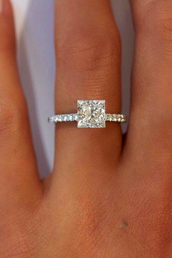 Wedding - 21 Breathtaking Princess Cut Engagement Rings
