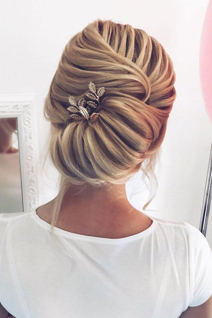 54 Simple Updos Wedding Hairstyles For Brides 2769354 Weddbook