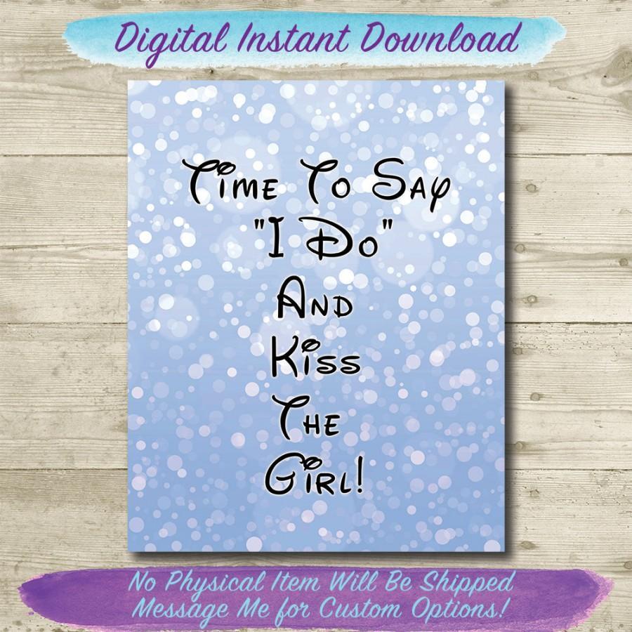 Hochzeit - Little Mermaid Wedding // Kiss The Girl // Disney Wedding // PRINTABLE // 8x10 // INSTANT DOWNLOAD // Beach Wedding // Ariel Wedding