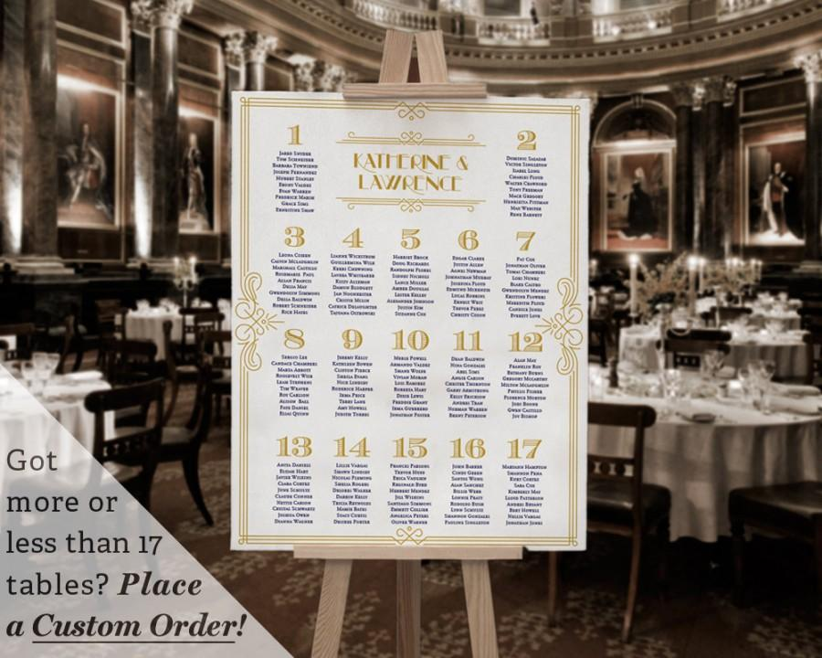 printable wedding table seating chart template gatsby 1920s navy