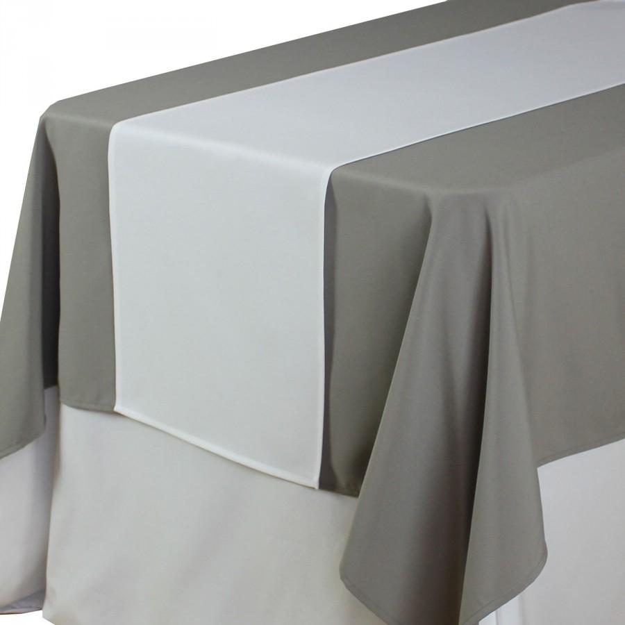 Delicieux White Table Runner 14 X 108 Inches