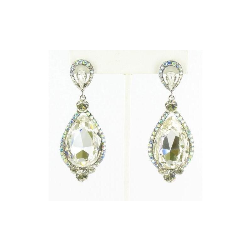 Wedding - Helens Heart Earrings JE-X007160-S-AB Helen's Heart Earrings - Rich Your Wedding Day