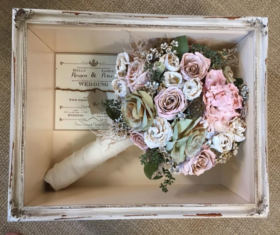 Floral Preservation For Wedding Bouquets In Shadow Box (Local NY ...