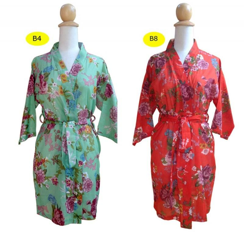 b4fd4d10e8ba9 Set of 4, Bride Kimono Robes, bridesmaids robe, Maid of honor, Spa robe  beach, Bridemaids gift, floral bridesmaids robes - Hand-made Beautiful  Dresses