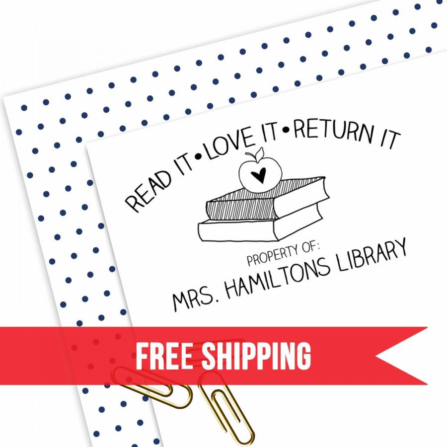 Custom Teacher Stamp School Classroom Library Book Gift Self Inking Personalized