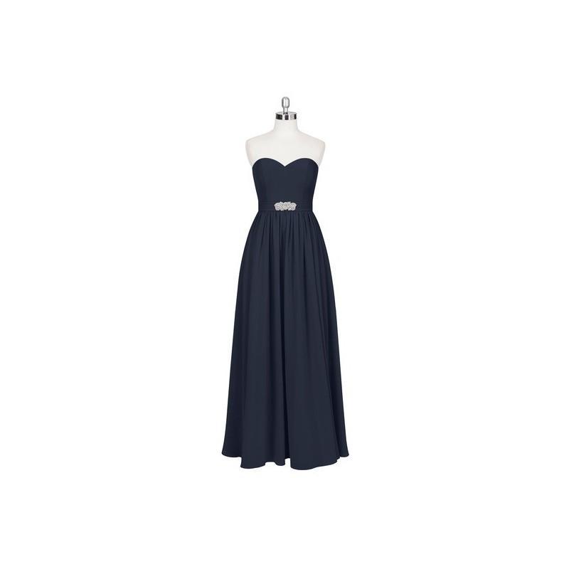 Hochzeit - Dark_navy Azazie Josie - Sweetheart Floor Length Chiffon Back Zip - Charming Bridesmaids Store