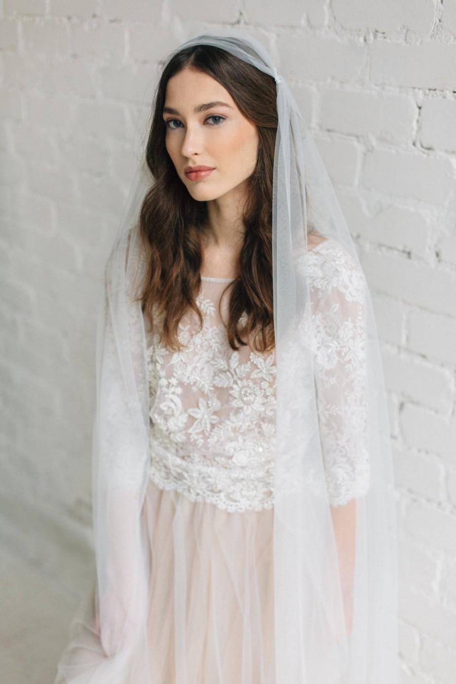 Свадьба - Wedding Veil , Boho Veil, Ivory Veil ,Chapel Length Veil ,Soft Tulle Veil ,Bohemian Wedding Veil, Long Wedding Veil ,Simple Veil  - SCARLETT