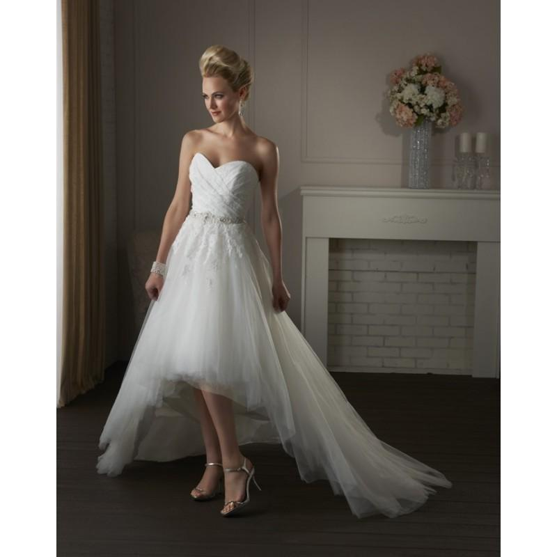 Bonny classic 413s high low tulle wedding dress crazy for Tulle high low wedding dress